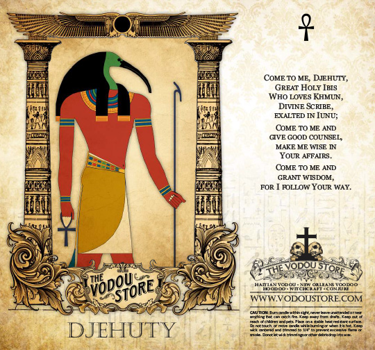7-Day Candle Label - Djehuty (Thoth) (C) : The Vodou Store