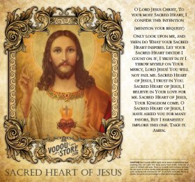 7-Day Candle Label - Sacred Heart of Jesus