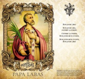 7-Day Candle Label - Papa LaBas