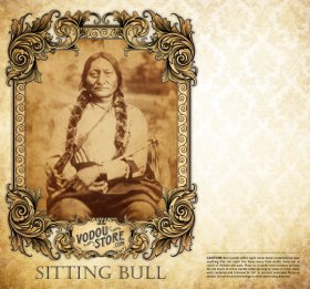 7-Day Candle Label - Sitting Bull
