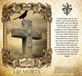 7-Day Candle Label - Les Morts