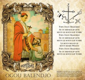 7-Day Candle Label - Ogou Balendjo