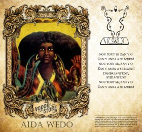 7-Day Candle Label - Aida Wedo