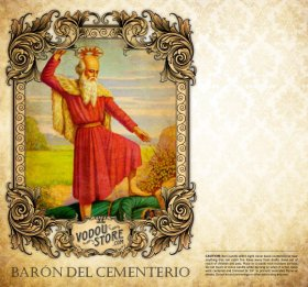 7-Day Candle Label - Barón Del Cementerio