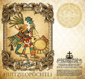 7-Day Candle Label - Huitzilopochtli