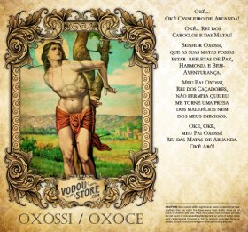7-Day Candle Label - Oxóssi / Oxoce