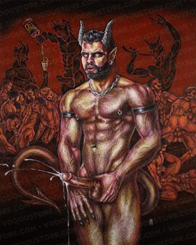Devil of the Bathhouse Print