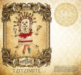 7-Day Candle Label - Tzitzimitl