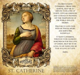 7-Day Candle Label - St. Catherine of Alexandria