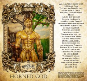 7-Day Candle Label - Horned God