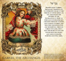 7-Day Candle Label - Gabriel the Archangel