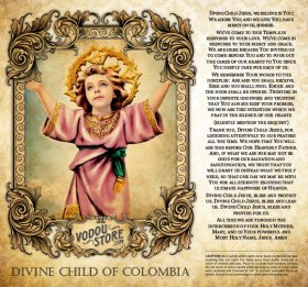 7-Day Candle Label - Divine Child of Colombia