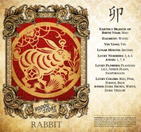 7-Day Candle Label - Rabbit