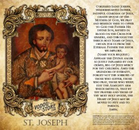 7-Day Candle Label - St. Joseph