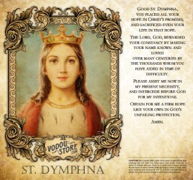 7-Day Candle Label - St. Dymphna