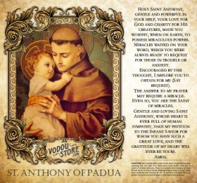 7-Day Candle Label - St. Anthony of Padua