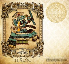 7-Day Candle Label - Tlaloc