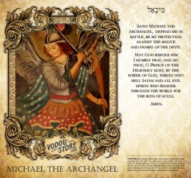 7-Day Candle Label - Michael the Archangel