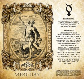 7-Day Candle Label - ☿ Mercury