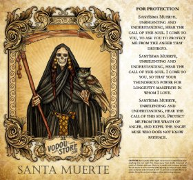 7-Day Candle Label - Santa Muerte (For protection)
