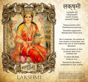 7-Day Candle Label - Lakshmi