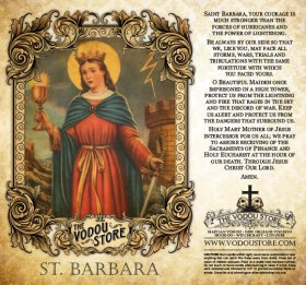 7-Day Candle Label - St. Barbara