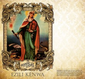 7-Day Candle Label - Ezili Kenwa