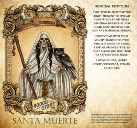 7-Day Candle Label - Santa Muerte (General petition)