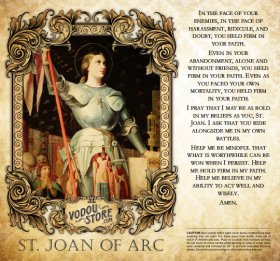 7-Day Candle Label - St. Joan of Arc