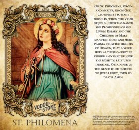 7-Day Candle Label - St. Philomena
