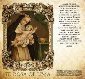 7-Day Candle Label - St. Rosa of Lima