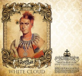 7-Day Candle Label - White Cloud