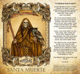7-Day Candle Label - Santa Muerte (To break bad habits)