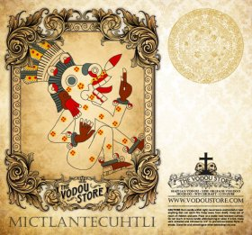 7-Day Candle Label - Mictlantecuhtli