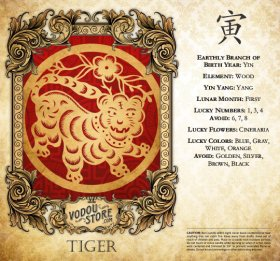 7-Day Candle Label - Tiger