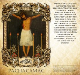 7-Day Candle Label - Pachacamac (Lima)