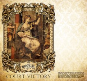 7-Day Candle Label - Court Victory