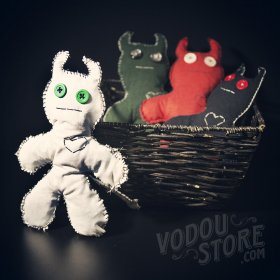 Devil Poppet/Voodoo Doll - White