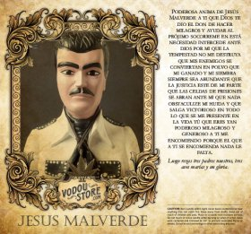 7-Day Candle Label - Jesus Malverde