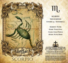 7-Day Candle Label - Scorpio