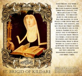 7-Day Candle Label - St. Brigid of Kildare