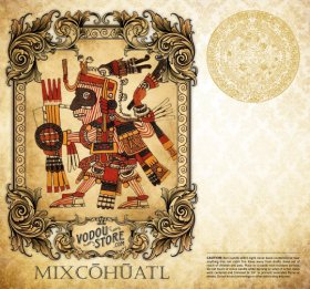 7-Day Candle Label - Mixcoatl