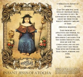 7-Day Candle Label - Infant Jesus of Atocha