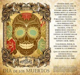 7-Day Candle Label - Dia de los Muertos (Day of the Dead)