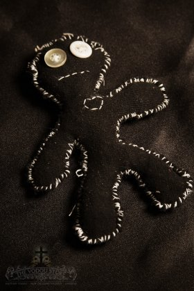 Poppet/Voodoo Doll - Black (Small)