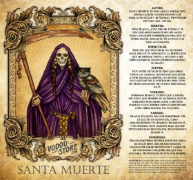7-Day Candle Label - Santa Muerte (Violeta)