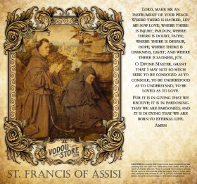 7-Day Candle Label - St. Francis of Assisi