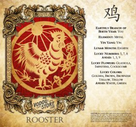7-Day Candle Label - Rooster