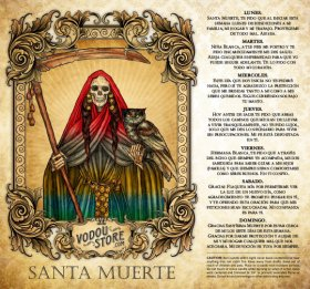 7-Day Candle Label - Santa Muerte (7 Colores)