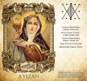 7-Day Candle Label - Ayizan